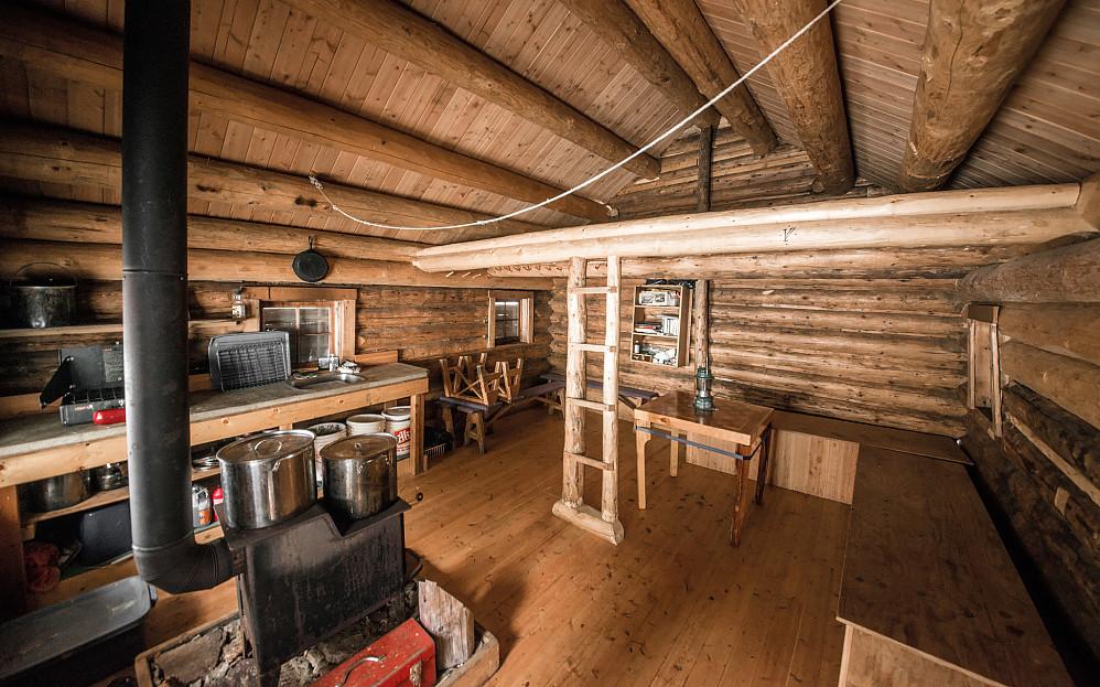 Interiør i Glacier Circle Cabin