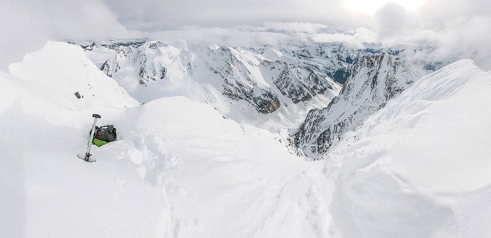 Panorama fra toppen av Dawson/Hasler