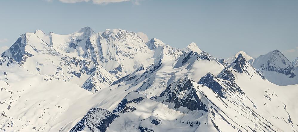 Utsikt mot Dawson Range med de to høyeste (Hasler og Selwyn) jeg fikk besteget for to uker tidligere