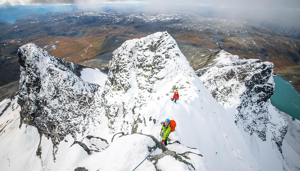Den siste hamren før toppen, spektakulær utsikt herfra