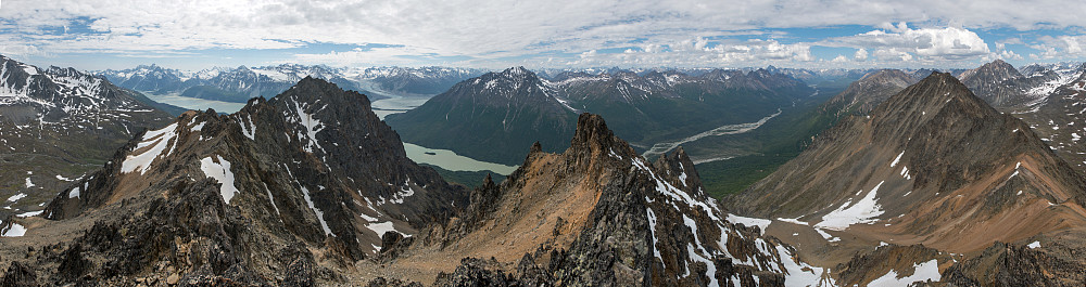 Panorama fra toppen