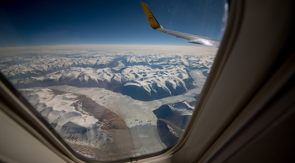 På Lufthansa over Grønland