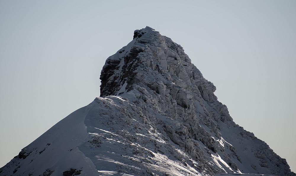 Det bratte partiet opp mot Fulånebba's nordtopp.