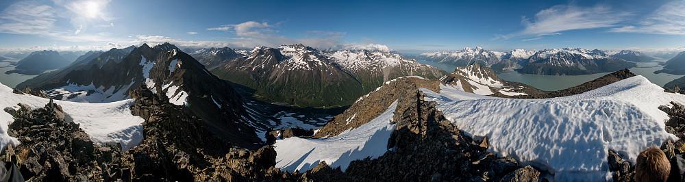 360 graders Panorama fra toppen