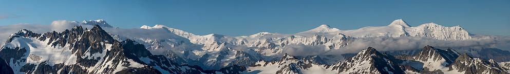 Panorama mot Tordrillo Mountains