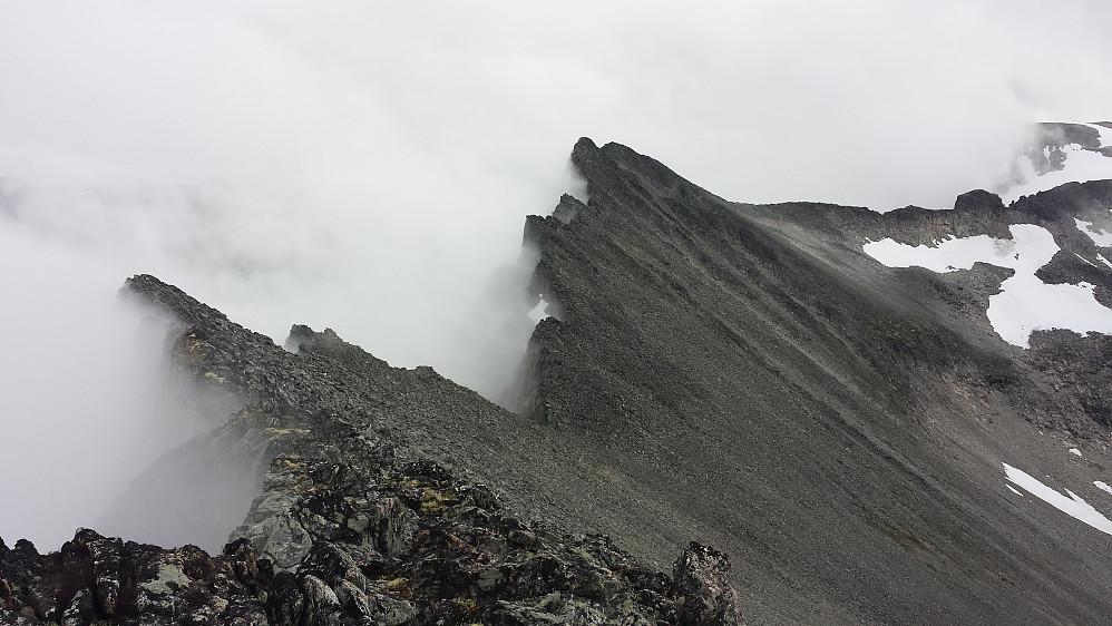 Den imponerende ryggen videre fra Hesten (1610 moh)