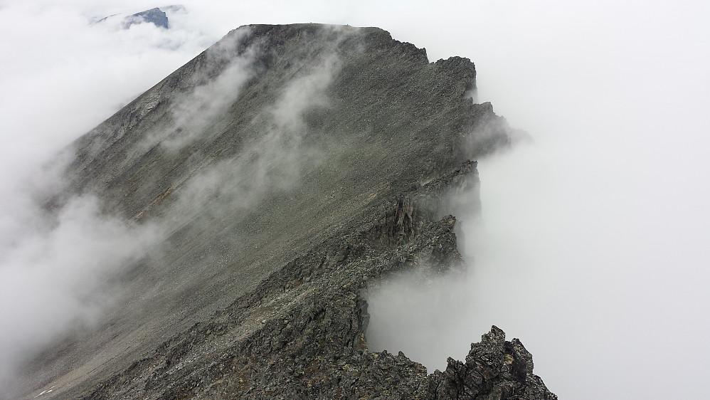Ryggen tilbake til Hesten (1610 moh). Fra Hesten S3