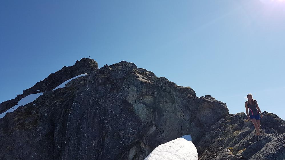 På veg ned fra Storbotnshornet