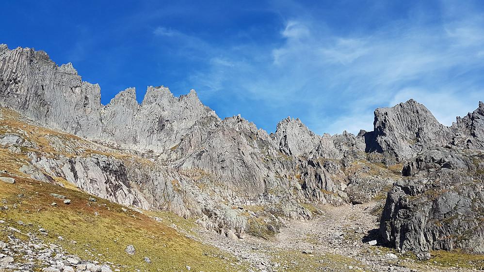 En fantastisk fjellrekke