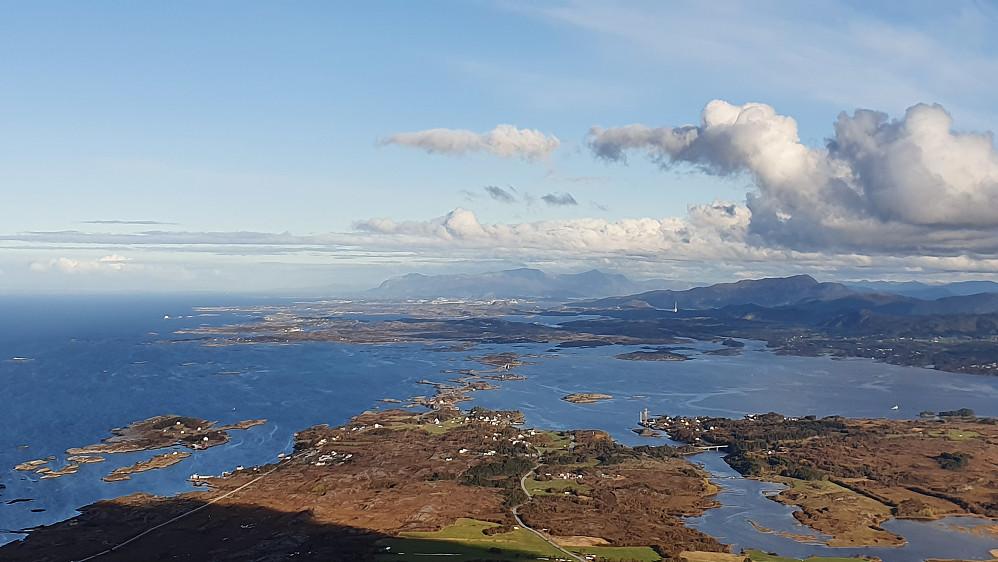 Nordøstover mot Vevang, Atlanterhavsvegen og Kristiansund