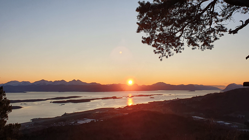 Solnedgang på Veslehausen.