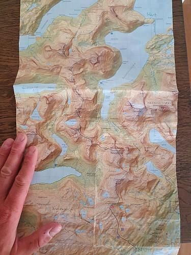 Kart over Sjunkhatten NP