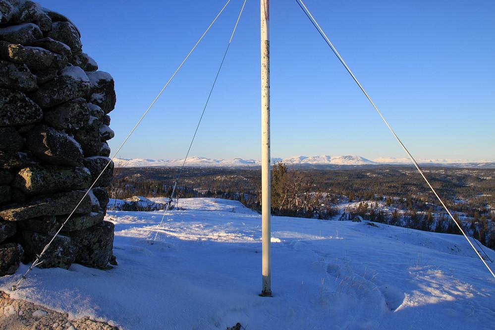 Utsikt fra varden på Elghøgde