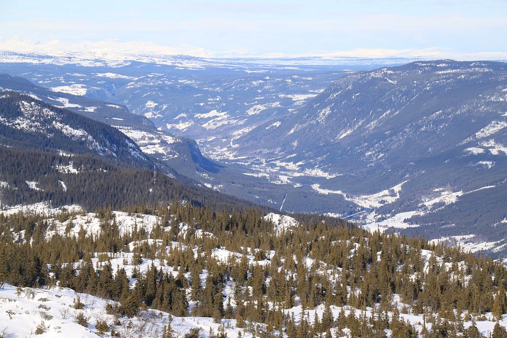Utsikt nordover Hallingdalen mot Gol