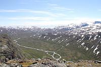 Syd-delen av Leirungsdalen fra toppen