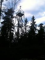 Brannvakts tårnet på toppen