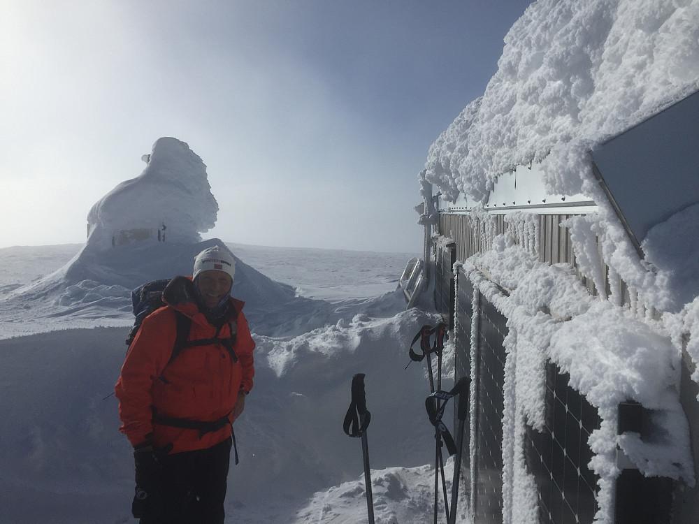 Toppen av Horrungen. Kaldt å ta bilde, så det ble med ett.