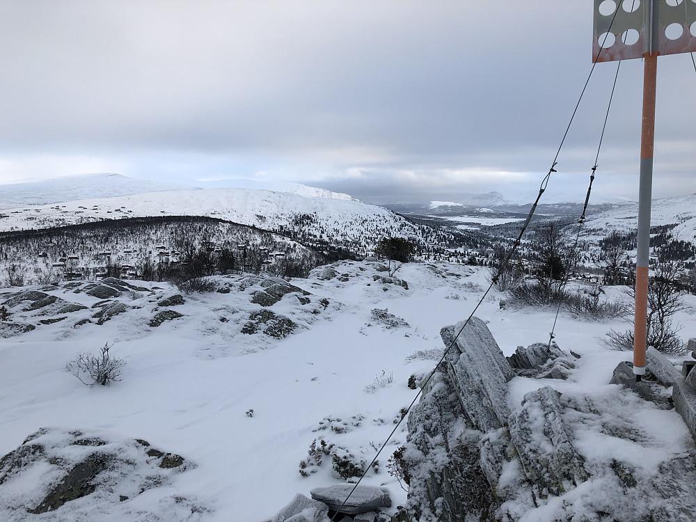 Toppen av Kåsen mot Berget og Ranglarhø