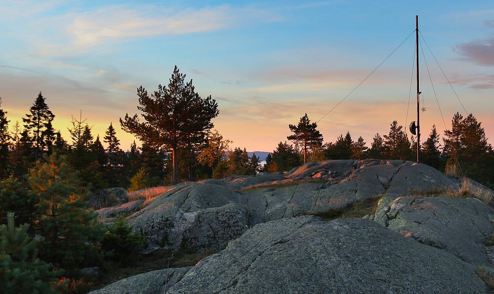 Så kom jeg meg omsider opp til toppen av Nordre Kolsås. Fin, den også!