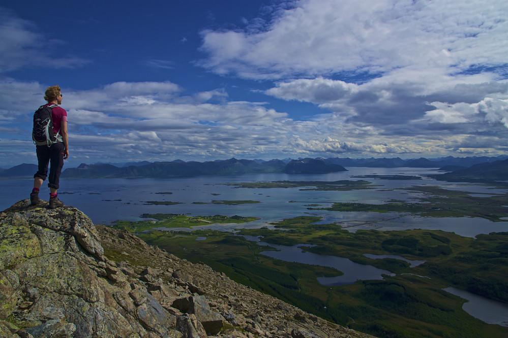 Utsikt fra Sørkulen mot bl.a. Gavlfjorden og Andøya