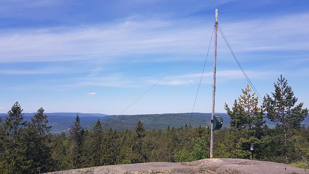 Utsikt mot nord fra Nordre Kolsås
