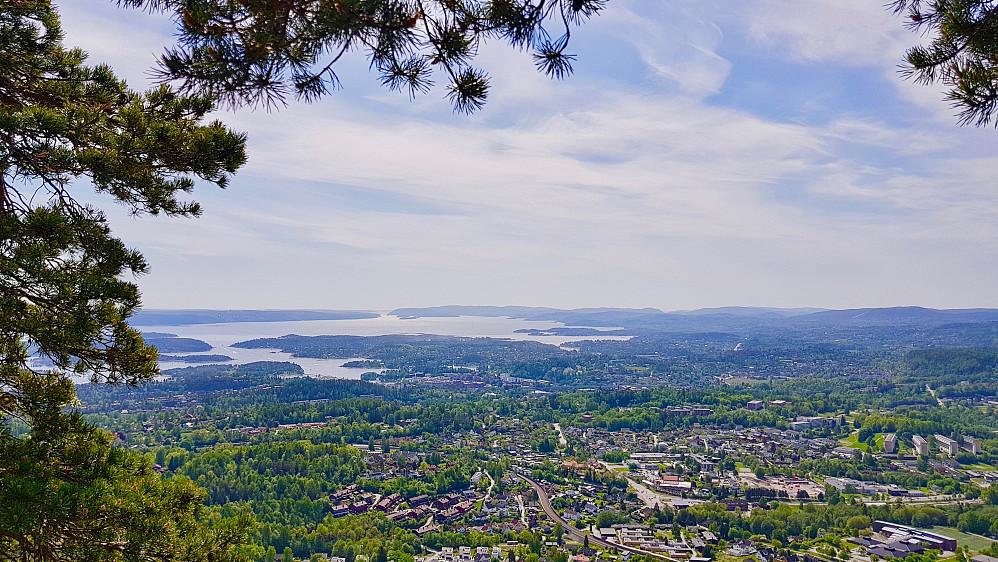 Bærum og Oslofjorden sett fra Søndre Kolsåstoppen