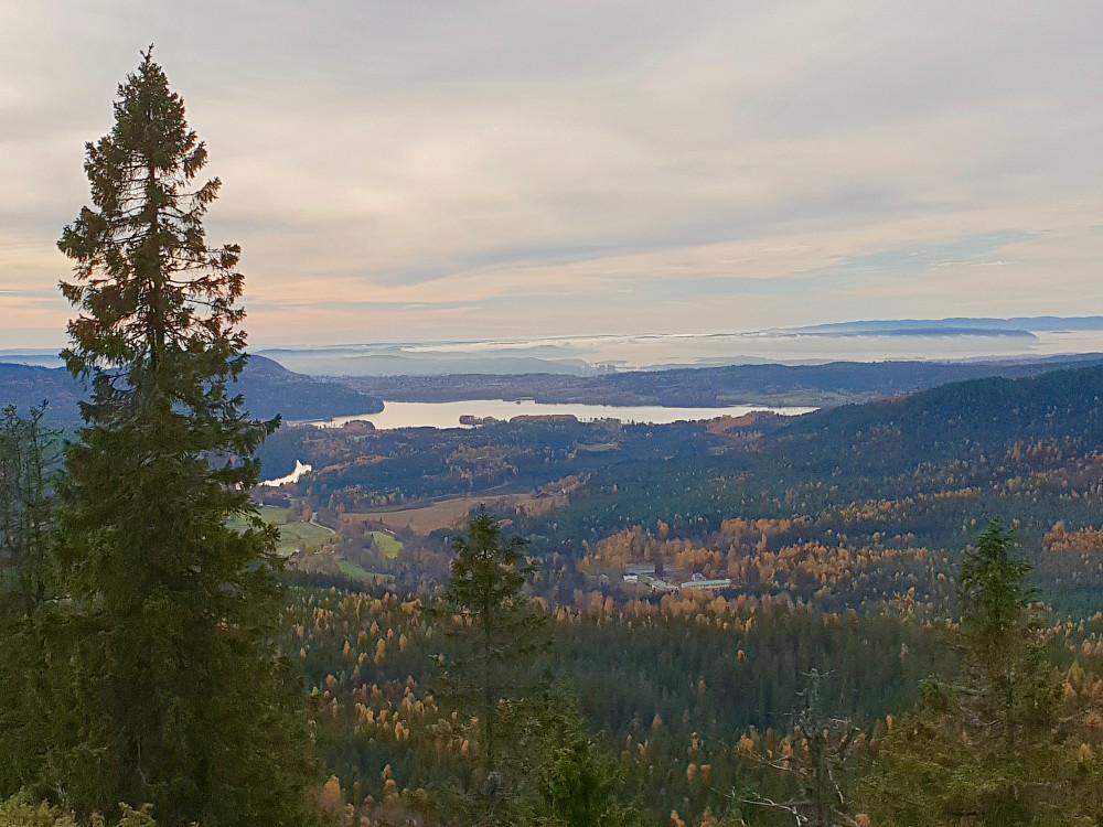 Maridalen sett fra Gaupekollen utsiktspunkt
