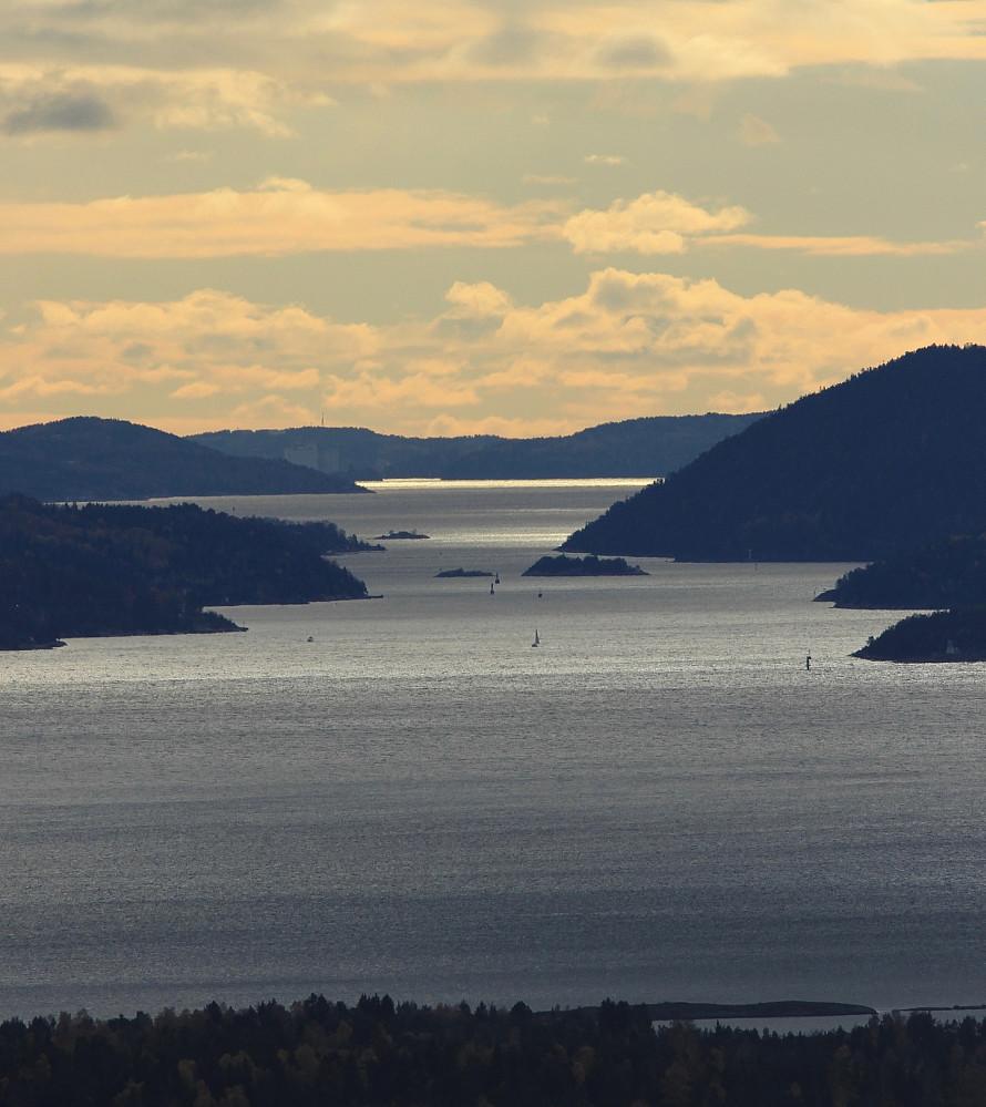 Deler av Oslofjorden sett fra Lille Kolsås