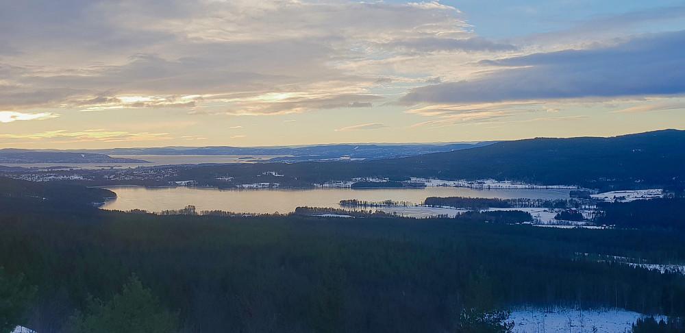 Utsikt fra Barlindåsen utsiktspunkt