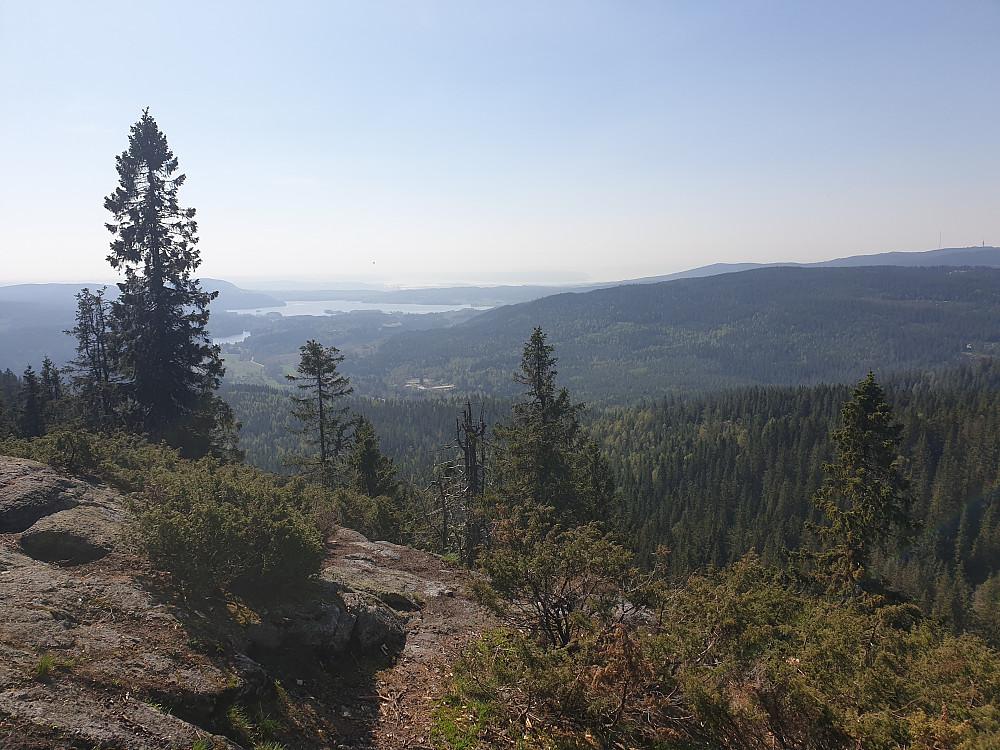 Maridalen og deler av Oslofjorden sett fra Gaupekollen utsiktspunkt