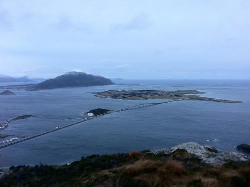 Utsikt fra Signalen mot Giske og Godøya