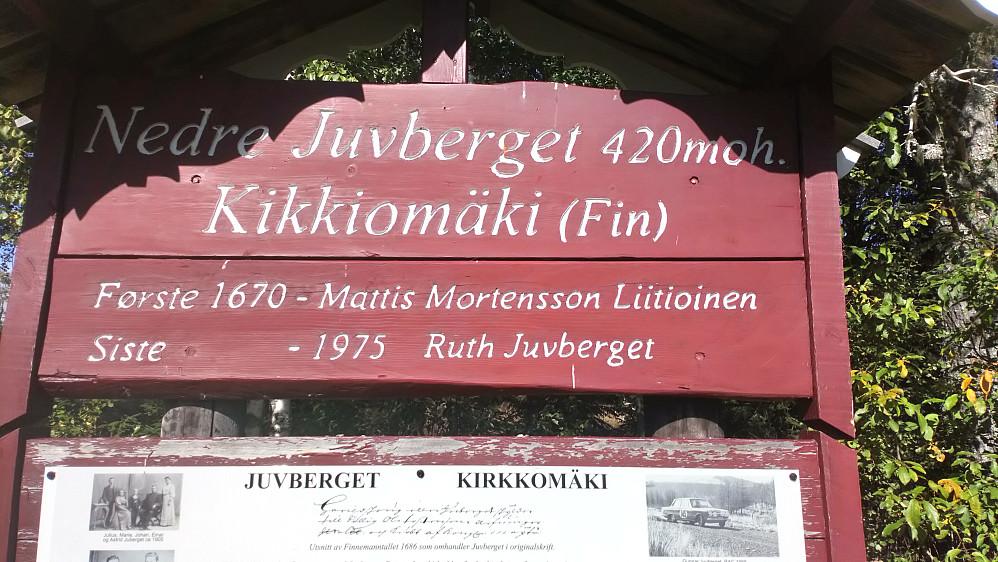 Her bodde det folk i 300 år.