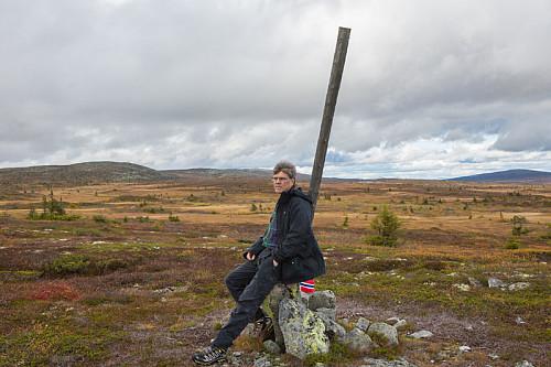 Hamars høyeste punkt er ikke Hamars nordligste spiss. Spissen befinner seg anonymt nedi myra i 350 meter i bakgrunnen her.