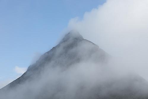 Skodda kom og gikk på toppen av Kyrkja.
