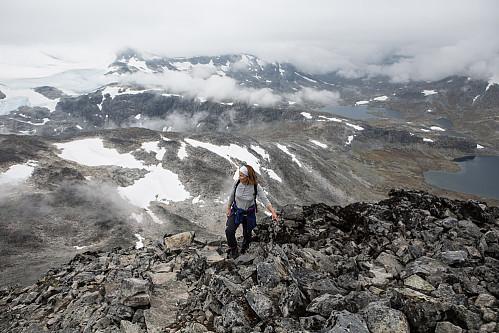 Kirsten i Jotunheimen.