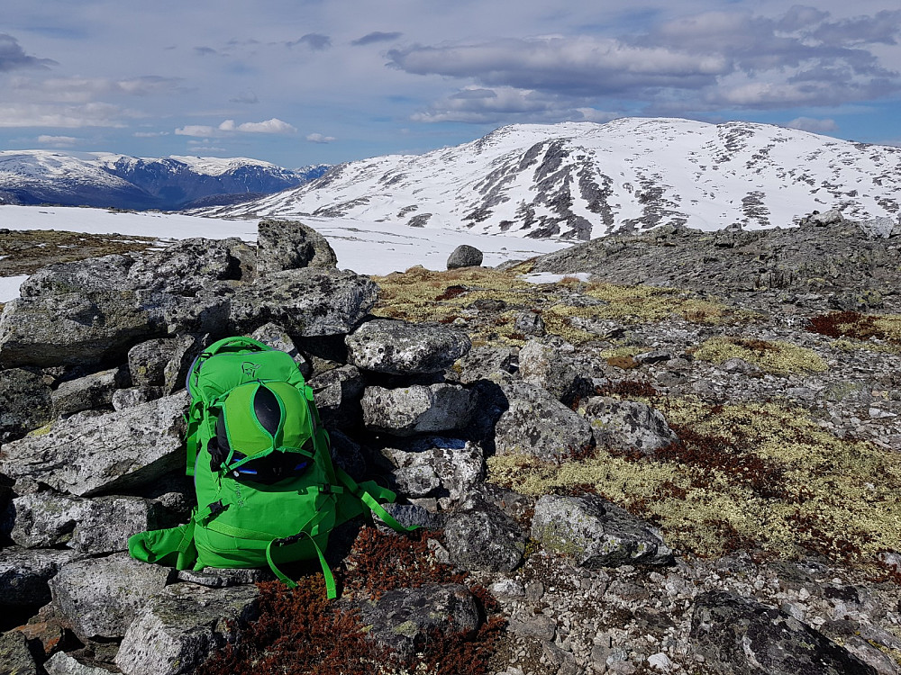 Vi ser Fresvikbreen heilt til venstre, og Grånosi til høgre.