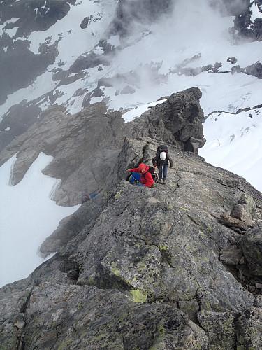 Standplass noen meter fra toppen av Store (foto Anders S).