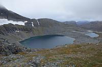 Nord-vest-eggen opp til Blånebba så litt friskere ut på avstand.