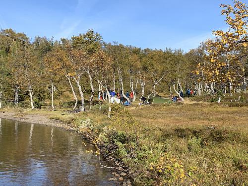Super teltplass i østenden av vannet.