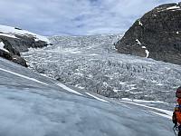 Høyre brefall Nigardsbreen (brefallet i midten er enklest)