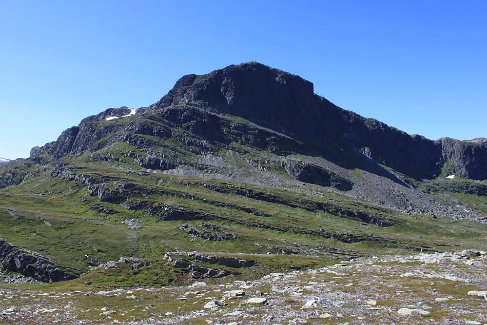 Bitihorn (1607 moh) sett fra Båtskardberge (1270 moh).