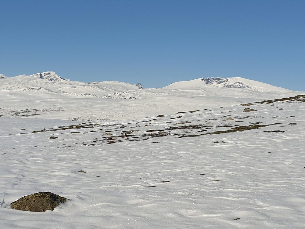 Storstyggesvånåtinden, Store Langvasstinden og Snøhettamassivet
