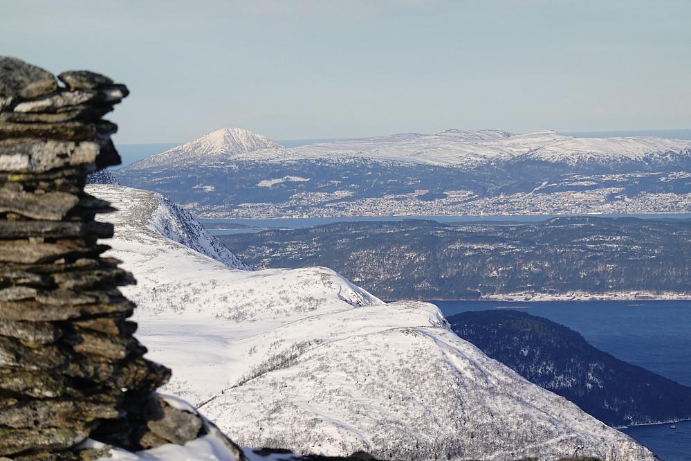 Fra Klauva tilbake mot Molde sentrum.