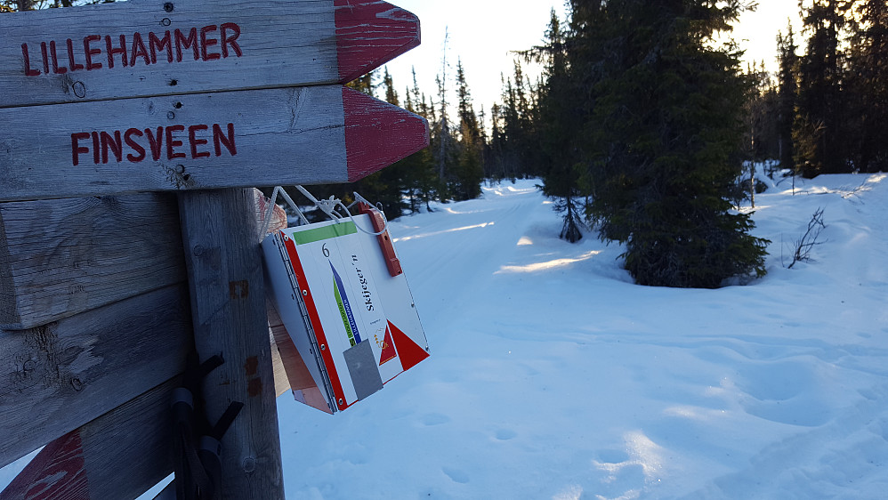 O-posten i løypa til Nordseter