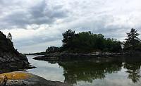 Nice bay in the southeast of Lerøyna with Landbelekholmen straight ahead