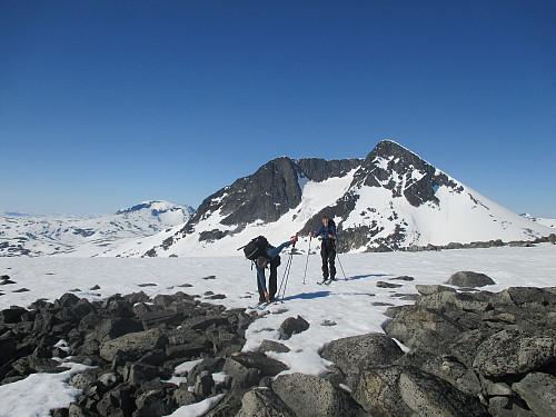 På bandet vest for Hinnåtefjellet med Semeltind i bakgrunnen