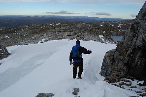 Nedgang på hardpakket snø