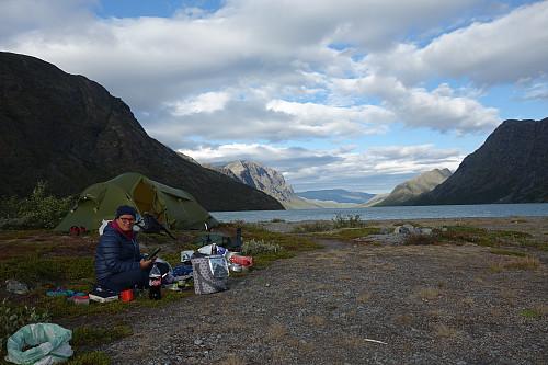 Fin teltplass