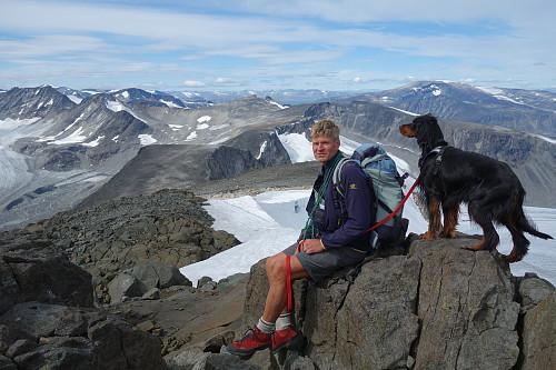 JAmbo og Svein nyter utsikten