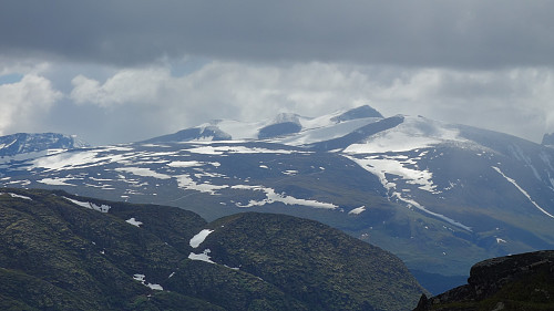 Svellnose, Keilhaus topp, Galdhøpiggen og Galdehøe